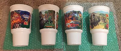 "McDonald's Disney's Animal Kingdom  ""Opening Spring 1998 Set of 4 plastic cup's"