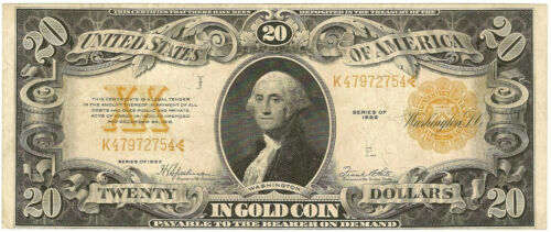 1922 $20 GOLD CERTIFICATE - NICE XF EXTRA FINE - PRICED RIGHT!