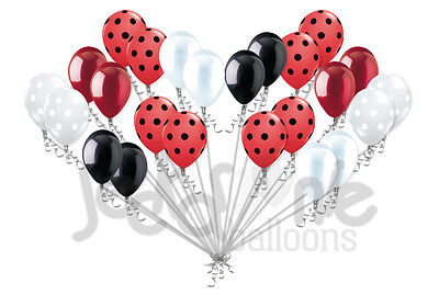 24 pc Lady Bug Inspired Latex Balloons Party Decoration Birthday Baby Shower](Lady Bug Birthday)
