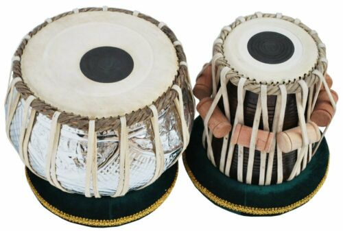 SALE ON SAI Musicals Tabla Set, 2.5 Kg Designer Chromed Copper Bayan, Sheesham