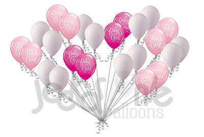24 pc Pink Baby Girl Latex Balloons Party Decoration Baby Shower Welcome Home](Welcome Baby Girl)