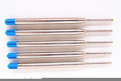 5PCS Blue JINHAO Ball Point Pen ink Refills Nib Medium New Free shipping