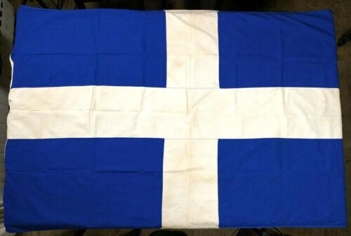 Greece Vintage Greek Cotton Flag 166x100cm Made by Elias Coconis