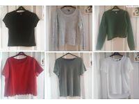 22 t-shirts/jumpers HUGE clothes bundle joblot (size 8-12) Topshop, New Look, Forever 21