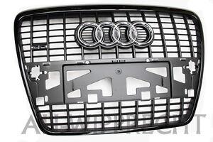 NEU Audi Tuning Grill schwarz Kühlergrill S6 RS6 A6 4F Frontgrill Audi Exklusiv