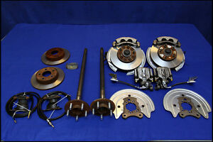 FORD MUSTANG 5 LUG FRONT & REAR DISC BRAKE CONVERSION KIT for 79 - 90 91 92 93