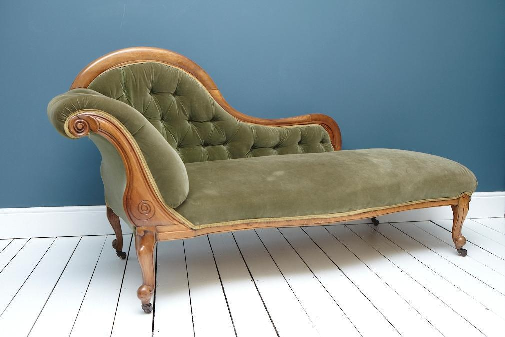 Antique victorian chaise lounge in norwich norfolk for Chaise lounge antique victorian