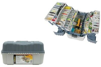 Tackle Pack - Large Fishing Tackle Box With 7 Tray Full Travel Holder Pack Handle-Locking New