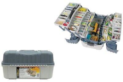 Fishing Tackle Box (Large Fishing Tackle Box With 7 Tray Full Travel Holder Pack Handle-Locking New )