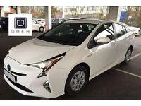 PCO CAR HIRE RENT – BRAND NEW 2016 TOYOTA PRIUS – 66 reg **UBER READY**
