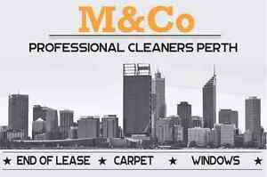M&Co Cleaners Perth Carpet Cleaning End of Lease Window Cleaning Como South Perth Area Preview