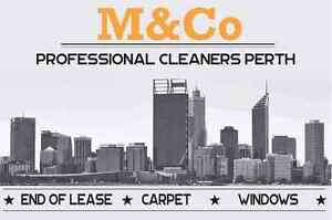 M&Co Cleaners Perth Carpet End of Lease Window office Commercial Como South Perth Area Preview