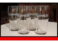 Four pint glasses - Guinness