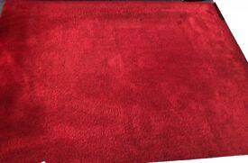 Bright Red Rug Carpet 170 x 230cm - Good Condition
