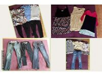 Mixed brand Size 10/12 maternity clothes 16 items