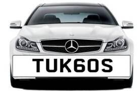 """Private number plate """"turbos"""" TUK60S"""