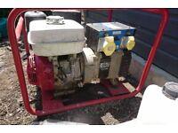 Honda Petrol Generator, GX270, 9hp, 4kw/5kva. Not working