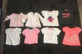 8x assorted tops baby girls