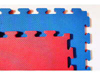 25 x 40mm Standard Jigsaw Mats Red/Blue for Fitness, Martial Arts, Karate, Kickboxing, CE certified