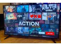 "55"" SHARP 4K ULTRA HD HDR SMART TV CAN DELIVER."