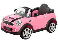 Mini Cooper ride on (6v) in Pink