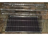 """DOG CAGE 32"""" Car Dog Cage SLOPING SIDE TO FIT IN HATCH BACK CAR GOOD CONDITION"""