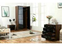 🔵💖🔴PRICE DROP🔵💖🔴ALINA 2 DOOR WARDROBE & BEDROOM SET- GOOD QUALITY IN A VERY CHEAP PRICE