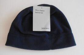 John Lewis Micro Fleece Beanie Hat. Navy. Size Small