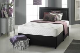 💞💕SPECIAL PROMO SALE💕💞 NEW 4FT6 DOUBLE & 5FT KING Divan Bed Base with 9 inch DEEP QUILT Mattress