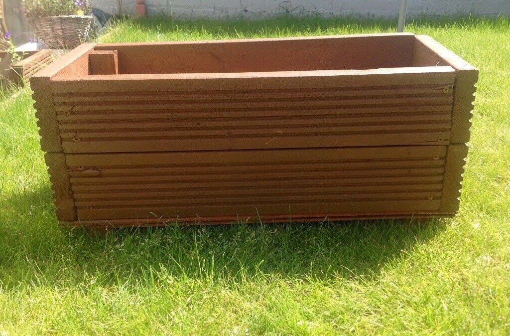 Medium handmade garden planter for sale. Made from reclaimed ... on timber planters, columns planters, concrete planters, trellis planters, furniture planters, brick planters, landscaping planters, fence planters, pergola planters, decorating planters,