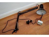Swing Arm E27 Holder Desk Lamp black (reserved for N)