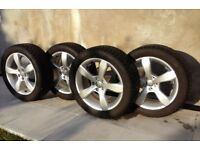 Genuine Audi Alloy Wheels and Tyres Like New