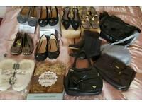Shoes Boots Slippers & Handbag bundle - £30