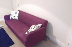 Large Red Sofa Bed