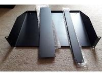 Various rack parts - 2U rack shelf + 2U blanking panel + 1U blanking panel
