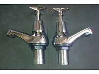 PAIR BATH TAPS NEW NEVER USED