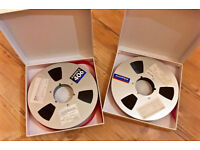 "2 x Ampex 406 Professional Audio Reel To Reel Tapes (10.5 "" Reel, 1"" Tape)"