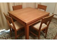 Stylish Extendable Table and 4 Chairs - Laura Ashley Brompton Oak - £250 ovno RRP £1,850