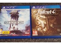 Ps4 Games. Like New- Fallout 4 and Star Wars Battlefront.