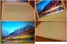 CAN DELIVER White laptop APPLE MACBOOK 13inch running newest Mac OS X High Sierra, Microsoft Office