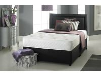 50% SALE DOUBLE DIVAN BED WITH DEEP QUILT MATTRESS -- SAME DAY DELIVERY - BUY NOW