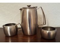 Stainless Steel 1960s coffee set - Retro Style!