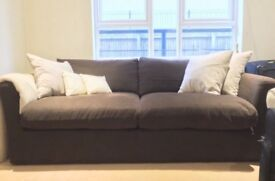 Luxurious brown 3 seater sofa