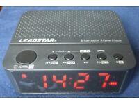 Leadstar Digital Led Display Clock Radio Bluetooth Speaker Alarm TF / SD Card Reader