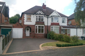 3 Bedroom Semi Detached House in Westbourne Avenue, Solihull