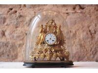 French Antique Louis XVI Mantle Clock in Ormolu
