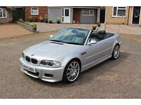 BMW M3 E46 CONVERTIBLE ONLY 98K MILES! SMG II GEARBOX! PADDLE SHIFTER! SERVICE HISTORY! 3 OWNERS!