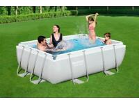 Brand new Bestway 9ft swimming pool rectangular frame