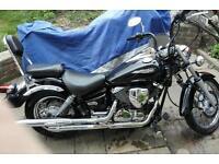 XVS DRAGSTAR 125 cc motorbike.