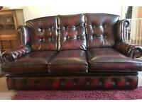 High quality Oxblood leather sofa